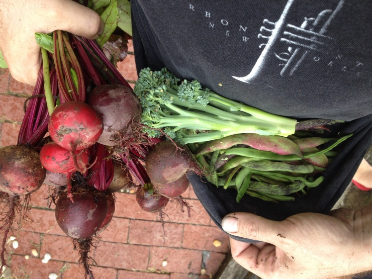 beets, broccoli, and beans