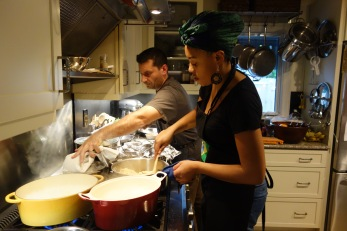 Daniel and Keyla cooking