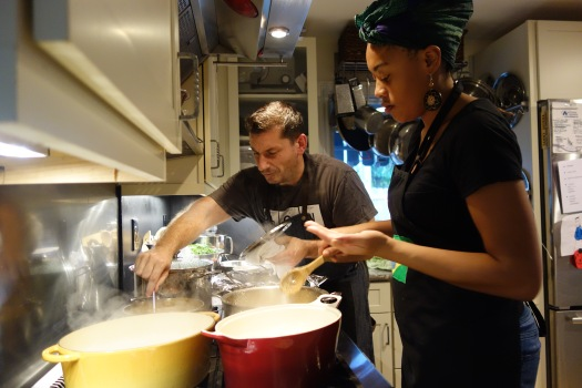 "Daniel and Keyla cooking for a ""Dinner with Daniel"""
