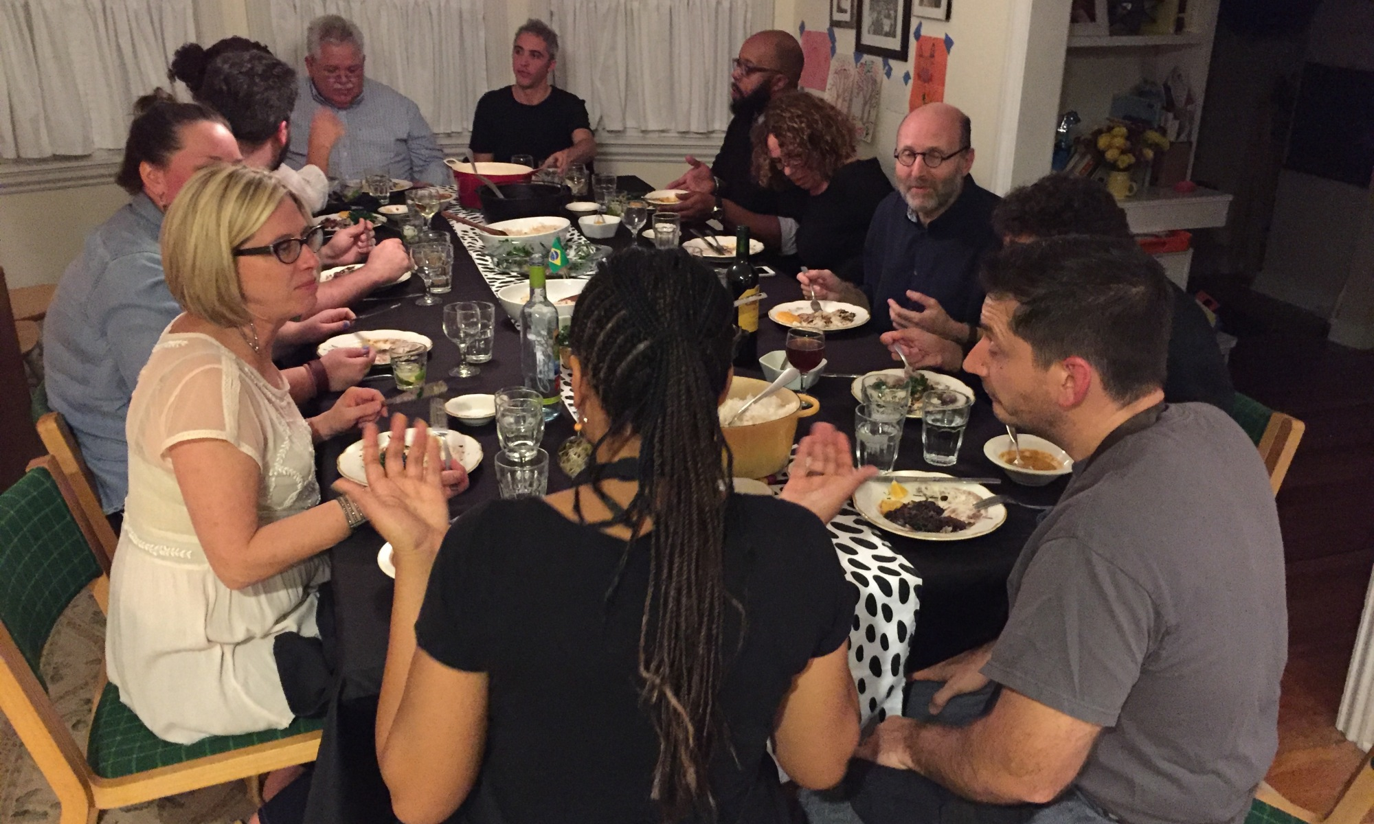 """Eating all together at a """"Dinner with Daniel"""""""