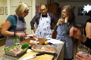 Preparing the monkfish