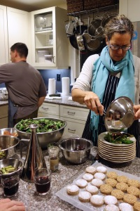 Plating the salad