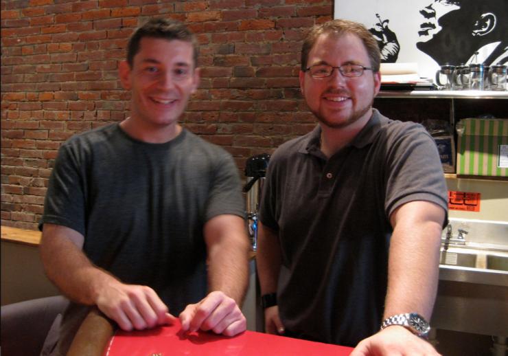 Here I am with Matt in Espresso a Mano in 2009
