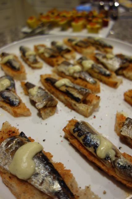 Escabeche sardines on a sourdough tomato marmalade torrija