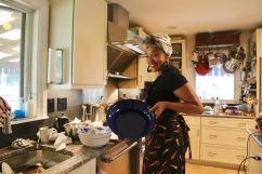 Keyla at the stove