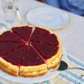 Pitaya (Dragon Fruit) Sangria Cheesecake