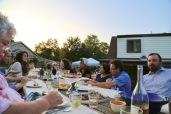 dining in the setting sun