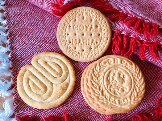 "Three types of Maria cookies (""Gallegas Marias"")"